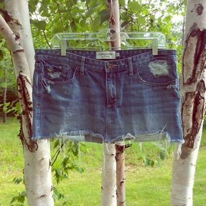Abercrombie and Fitch Denim Mini Skirt